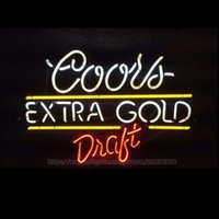 """Wholesale coors neon signs - Coors Extra Gold Draft Neon Sign Store Shop Display Advertisement Real Glass Tube Handcrafted Beer Bar Neon Signs 19""""X15"""""""