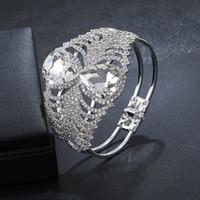 Wholesale wedding bracelets for sale - Fashion Accessories Western Style Wedding Silver Plated Crystal Rhinestone Bracelet for Women