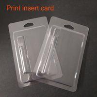 impresión de tarjetas de plástico al por mayor-Tarjetas de impresión Para bobina de cerámica CO2 aceite cartucho vacío Envoltorio de la cubierta Tanque de plástico Ce3 G2 atpmizer 510 grueso empaque de carro de aceite