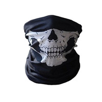 Wholesale half white party mask resale online - Multi function Skull Masks Skeleton Party Mask Halloween Masquerade Half Face Mask Motorbycle Bicycle Cap Neck Protect Masks