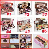 Wholesale sweet wholesalers - Faced Makeup Sweet peach Eyeshadow white Chocolate Bar bons Semi-sweet Chocolate Gold 16 Color Shimmer Matte Eye shadow Palette free DHL