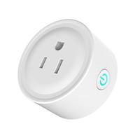interruptor de salida wifi al por mayor-2018 Nuevos Trabajos con Alexa Switch Socket Wifi Teléfono Smart Timing Salida Inalámbrica RC Smart Home control de voz Enchufe de EE. UU.