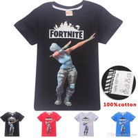 Wholesale new clothing brand for kids for sale - Boys Girls fortnite T shirts New Children Game Cartoon cotton Short sleeve t shirt Baby kids clothing for years