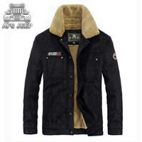 Wholesale original fur coat - Original Brand AFS Mens Jackets Winter New 2018 One Thick Keep Warm in -30 Degree Casual Fur Coat