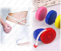 Wholesale wholesale measuring tapes - Wholesale Multicolor 60 inch New Retractable Ruler Tape Measure 1.5M for Measures Sewing Cloth Dieting Tailor Promotion 200pcs Free shipping