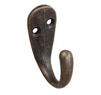 бронзовая шляпа оптовых-Оптовая продажа-один зубец одежда пальто халат кошелек шляпа крючок вешалка античная бронза 3,4 см х 1,4 см (1 3/8