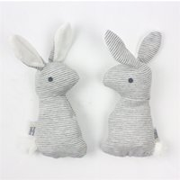 Wholesale bb bears - Baby Rattle Toys Animal Cute Rabbit Hand Grab Toy Gift With BB Sound Playing Gift Plush Doll Kids Rattle Toy 3 8bx W