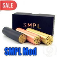siyah bakır mod toptan satış-SMPL Mod buharlaştırıcı E Sigara Tam Machanical Mods Kırmızı Bakır SS Siyah Pirinç Vape 510 iplik tankı için Mod 18650 mod