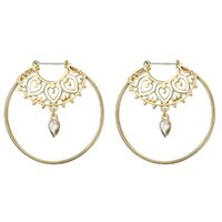 3c3a2817f29e Bijoux Gold Color Big Circle Round Hoop Earrings For Woman Boho Water Geometric  Earring Party Jewelry Bohemian Accessories