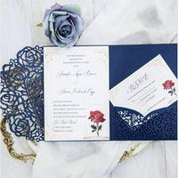 Wholesale wedding invitation envelopes buy cheap wedding wholesale wedding invitation envelopes for sale tri fold pocket wedding invitation card with rsvp envelope filmwisefo