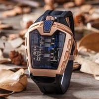Wholesale fashion watches links online - 2018 Mens Fashion Large Face Skull Watch With Bracelet Link Band Stylish Cool Stainless Steel