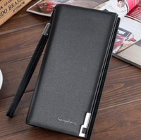 Wholesale Business Meeting Gifts - Mens handbag business wallet Men long hand bags zipper cell phone pocket meeting gifts Free shipping