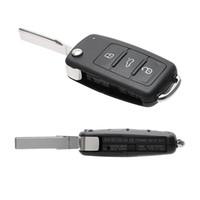 telecomandos vw venda por atacado-Botões Chaves Do Carro Em Branco para Besouro / Caddy / Eos / Golfe / Jetta / Polo / Scirocco / Tiguan / Touran / UP Remoto Flip Car Shell Chave Capa Para VW