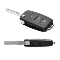 teclas giratorias para coches al por mayor-Botones Teclas de coche en blanco para Escarabajo / Caddy / Eos / Golf / Jetta / Polo / Scirocco / Tiguan / Touran / UP Cubierta de cáscara de llave de coche remoto Flip para VW