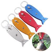 ingrosso impugnatura in lega di alluminio-Lega di alluminio pesce lip grip robusta multi colori pesca pinza con corda resistenza alla caduta fishings gripper di alta qualità 25qy b