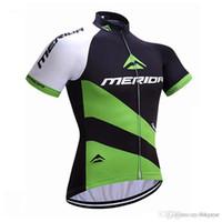 merida giysileri toptan satış-Pro Team Merida Bisiklet Jersey 2017 Yeni yaz Bisiklet Giyim erkek Kısa Kollu gömlek hızlı kuru mtb bisiklet spor A1403