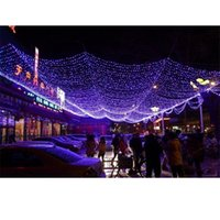 weiße netzleuchten großhandel-2 Größe Festival Led-Leuchten im Freien warmes Weiß Blau Multicolor Rasen Fischernetz Licht-Weihnachtsfest Hochzeit Dekoration