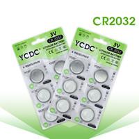 lithium-taste großhandel-12 STÜCKE / 2 karten CR2032 DL2032 CR 2032 KCR2032 5004LC ECR2032 Knopfzelle Münze 3 V Lithium-Batterie Für Uhr Schrittzähler LED-Licht