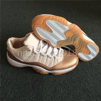 Wholesale Pretty Cut - 2018 Cheap Womens Basketball Shoes Rose Gold Pretty Sneakers XI 11s Athletic Sport Shoes Lady Designs Low Cut Trainers Running Sneakers