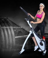 Wholesale spin bikes resale online - DHL body building quiet magnetic control sport fittness indoor spinning stationary exercise bike bicycle cycle