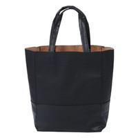 ingrosso modello di tote hobo-New Vintage Crocodile Pattern Faux Leather Simple Tote Shoulder Bag nero