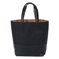 eski deri siyah hobo çantaları toptan satış-Yeni Bağbozumu Timsah Desen Sahte Deri Basit Kadınlar Tote Omuz Çantası Siyah