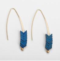 borla original al por mayor-Diseño original Flecha Pendientes de tierra Pendientes europeos y americanos Boho Bohemian Long Tassel Fringe Dangle Earrings