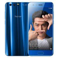 двухъядерный смартфон оптовых-Восстановленное в Исходном Huawei Honor 9 4 Г LTE 5.15 дюймов Octa Core 4/6 ГБ RAM 64 ГБ ROM Dual SIM 3 Камеры Android 7.0 Смарт Сотовый Телефон DHL 1 шт