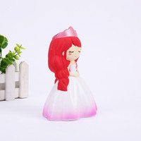 Wholesale fantasy wedding - New Pattern Squishy Wedding Princess Venting Decompression Toy Foamed Slow Rebound Squeeze Soft Emulate Model Toy Squishies Ornament 15jy W