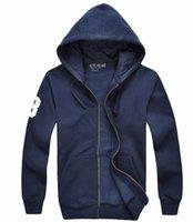 polo hoodie l toptan satış-Ücretsiz kargo! Toptan marka erkek polo Hoodies ve Tişörtü sonbahar kış büyük at spor ceket erkek hoodies 100% pamuk