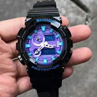 Wholesale stainless steel back water resistant - Mens G Style AAA Sports Watches Military LED Digital Swim Watch Luxury Shock 2018 Mens Male Stainless Steel Back Wristwatches relogio Clock