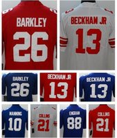 1eff6c1e6 New York 26 Saquon Barkley 13 Odell Beckham Jr Giants Men s 10 Eli Manning  21 Landon Collins Football Jerseys women youth