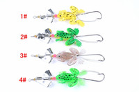 Wholesale fish parts - Fashion new 4 pieces set fog shape Tool Fishing Lure Kits Hard ARTIFICIAL LURES MINNOW FISHING LURES Set VIB Blade Fish Bait