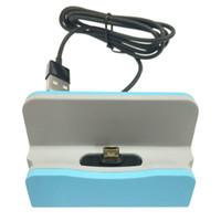 ingrosso borsa per culla-Ricarica rapida Supporto da tavolo USB Ricarica di ricarica per Iphone X 8 7 Plus Typle c Per SAMSUNG GALAXY S8 Nota Borsa per la vendita al dettaglio