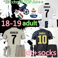 Thai top 18 19 Juventus RONALDO DYBALA Soccer Jersey men Kit + socks 2018 2019  HIGUAIN BUFFON MARCHISIO BERNARDESCHI D. COSTA Football Shirt a3a7d4283