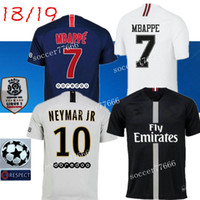AAA 18 19 PSG soccer jersey 2019 Paris MBAPPE saint germain NEYMAR JR jersey  18 19 Survetement football kit champions shirt men uniform 5086aa0f8