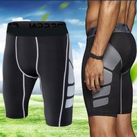 Wholesale tights shorts for men - New Compression Shorts Men Bodybuilding Quick Dry Fitness Tight Shorts Sweat Sport Short Trousers Gym Men's For Running