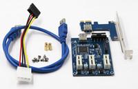 yükseltici adaptör toptan satış-10 adet / grup PCI 1 3 PCI Yükseltici Kart Adaptörü 1x Arayüzü Genişleme Kartı 3-Port PCIE Yuvası