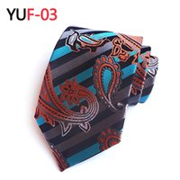 Wholesale mens embroidered wedding suits - Mantieqingway Paisley Mens Ties Brand Neckwear Business Wedding Party 8 cm Neck Ties Polyester Tie Grooms Necktie Casual Suits