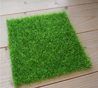 Wholesale mini grass plant for sale - Group buy Artificial Fake Moss Decorative Lawn Micro Landscape Decoration DIY Mini Fairy Garden Simulation Plants Turf Green Grass x15cm Small Size