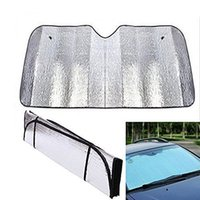 Wholesale cars windshield shade - Applied Foldable Car Windshield Visor Cover Block Front Rear Window Sun Shade Car Sunshade BBA140 100pcs