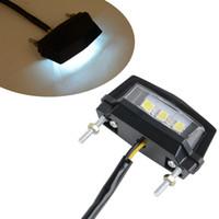 Keenso 2 x 12 V 3 LED luz de matr/ícula universal LED coche auto motocicleta impermeable tornillo perno luces para coche cami/ón ATV motocicleta SUV RV