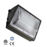 лампы hps оптовых-Замена HPS / HID света Wallpack СИД 45W 60W 80W 100W, напольный перечисленный светильник ETL установленной поверхности пакета стены