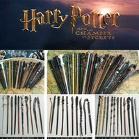 Wholesale harry potter wands hermione resale online - Harry potter Magical Wand dumbledore Hogwarts wand cosplay wands Hermione Voldemort Magic Wand In Gift Box styles I407