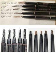 разные цвета бровей оптовых-В наличии макияж карандаш для бровей 5 мода цвет средний коричневый черное дерево шоколад темно-коричневый мягкий коричневый брови тощий брови лайнер epacket