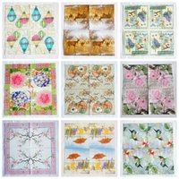Wholesale paper for decoupage resale online - Paper Napkins decoupage MIX cm vintage bird flower napkins for decoupage