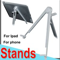 Wholesale Bracket Flatbed Notebook General Stands for Ipad Phone Samsung Triangular Bracket Tablet Computer Small Bracket Aluminum Alloy Metal XCTZJ