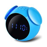 цифровой водонепроницаемый плеер оптовых-Цифровой светодиодный беспроводной динамик Bluetooth мини-будильник зеркало водонепроницаемый шумоподавления динамик будильник музыкальный плеер