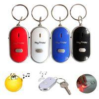 flash de silbato al por mayor-2018 Nuevo LED Whistle Key Finder Parpadeo zumbido remoto Lost Keyfinder Locator Keyring para el envío gratis