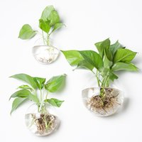 Wholesale rose wall hanging for sale - Group buy Wall Hanging Glass Vase Transparent Office Hotel Originality Green Rose Vases Art Wall Garden Home Furnishing Decor jy3 bb